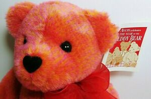 NEW with tags Talking Interactive Love Bear AVON 2002 battery operated Orange