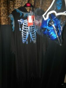 Halloween Costume Gruesome Reaper With Props Age 7-8 BNWT Black