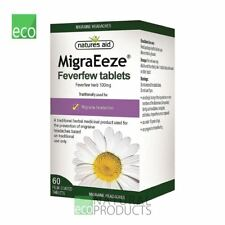 Natures Aid Herbal MigraEeze Feverfew Migraine Headaches 60 tabs