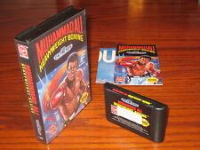Muhammad Ali Boxing Sega Genesis Complete CIB: Case, Instruction Manual, Poster