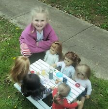 American Girl Doll picnic table made by hand to order, painted or unfinished