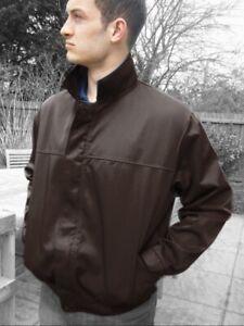 BROWN  BOMBER JACKET Zip Front Drivers Work Jacket - British Made  JK87