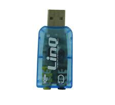 Scheda Audio PC USB 2.0 Adattatore 3d Sound Ac3 Virtual 5.1 Linq