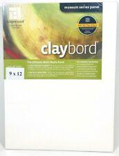 """Ampersand Claybord 9"""" x 12"""" Flat 1/8"""" Museum Series Multi-Media Panel 1 Claybord"""