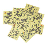 10pcs Kids DIY Color Sand Painting Art Creative Drawing Toys Sand Paper Crafts
