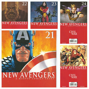 °NEW AVENGERS #21 bis 25 DISSASEMBLED CIVIL WAR TIE IN° US Marvel 2006 Bendis