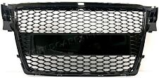 Front Center Grill Tuning Gloss Black For Audi A4 RS 2007-