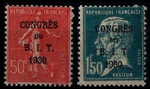 Timbres surchargés B.I.T., Neuf ** = Cote 55 € / Lot Timbres France 264 265