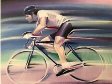 CLIFF MORRIS,'BICYCLING',SPORTS COLLECTION,RARE AUTHENTIC 1989 ART PRINT