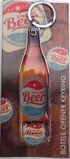 Premium Beer BOTTLE OPENER KEYRING Metal Retro Design