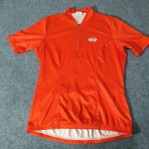 LOUIS GARNEAU Cycling Jersey Womans XL Cycle Jersey Shirt Top Bright Orange