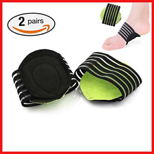 2 Pairs Extra Thick Cushioned Compression Arch Support with More Padded Comfort