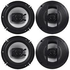 """(2) Pair Boss R63 6.5"""" 600 Watt 4-Ohm 3-Way Coaxial Car Stereo Speakers"""