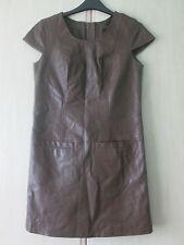 ladies NEXT BROWN FAUX LEATHER PVC DRESS UK SIZE 6