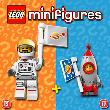 LEGO Minifigures #71011, #71018 - S15 + S17 - Astronaut + Rocket Boy - NEW