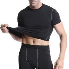 Compression Mens Under Shirt Base Layer Athleisure Tops Sport T-Shirt Gym Wear T