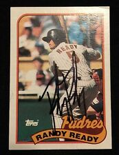 RANDY READ 1989 TOPPS Autograph Signed AUTO Baseball Card 551 PADRES