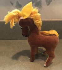 "Vintage R. Dakin Dream Pets Stuffed Plush Velvet Horse Brown Japan 7"""