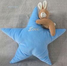 """Doudou/peluche Lapin et étoile Bleu beige """"love"""""""