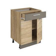 Küchenschrank ALINA 60 cm Unterschrank Küche Einbauküche Sonoma Eiche NEU