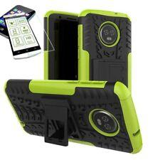 pour Motorola Moto G6 Plus HYBRID ETUI extérieur 2 pièces vert Coque + H9