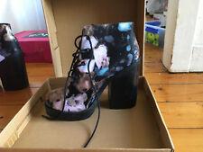 asos floral exterminator ankle boots uk7 au9.5