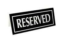 Small Reserved Signs, Tent Style, Black, 15 Pack, Free Shipping