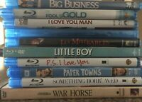BLU-RAY LOT 10 TITLES PRE-OWNED ACTION COMEDY DRAMA MYSTERY ROMANCE WAR