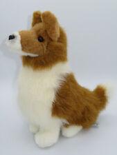 "Russ Berrie Border Collie Lassie Dog 12""  Plush Stuffed Animal Brown White Toy"