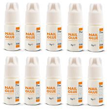 THE EDGE NAIL GLUE 3g Gram UV GEL ACRYLIC NAILS STRONG FALSE ADHESIVE For Tips