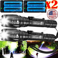 350000LM  LED Rechargeable High Power Torch Flashlight Light Lamps & Charger