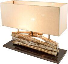 TISCH-Lampe Tisch-Dekoleuchte TREIBHOLZ 50 x 42 cm Naturmaterial - NEU