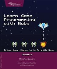 LEARN GAME PROGRAMMING WITH RUBY - SOBKOWICZ, MARK - NEW PAPERBACK BOOK
