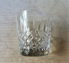 **Vintage 9cm Tall Hand Cut Heavy Crystal Whisky Glass