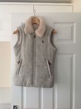 LADIES 'JACK WILLS' GREY FUR GILET. SIZE 8. GOOD CONDITION.
