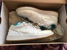 Nike Air Jordan 1 Retro Low White Chlorine Blue Sonic Yellow Size 5Y