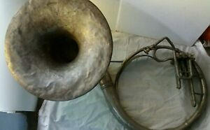 Antique vintage brass sousaphone