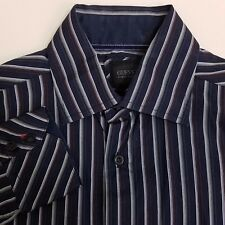GUESS Button Up Shirt Men's Size Small S Blue Striped
