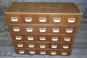 schöner alter Karteischrank Schubladenschrank Holz Schublade Postkarten Schrank