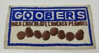 """Vintage Goobers Milk Chocolate Covered Peanuts Advertising Patch 3 3/4"""" x 2"""""""