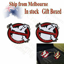 Rhodium Plated Ghostbusters NO Ghost Logo Cufflinks (Gift Boxed)