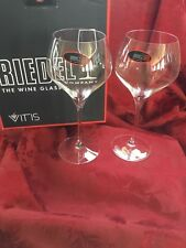 NIB FLAWLESS Exquisite RIEDEL Fine Crystal VITIS Pair OAKED CHARDONNAY GLASSES