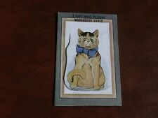 ORIGINAL LOUIS WAIN SIGNED NOVELTY PULL OUT CAT POSTCARD - WOODHOUSE EAVES.
