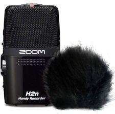 Zoom H2n tragbarer Audio-Recorder + keepdrum  Fell-Windschutz