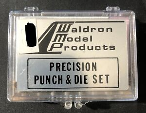 Waldron Model Products Precision Punch and Die Set .160-.039 Rusty