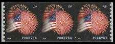 US 4853 Star-Spangled Banner forever coil strip CCL (3 stamps) MNH 2014