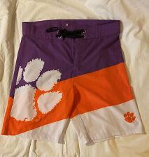 New listing Clemson Tigers Mens Orange/White/Purple Swim Trunks Size 32