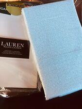 Ralph Lauren White Moss Green Houndstooth Check Standard Pillowcases NIP