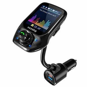 【Nouveau】 VicTsing Transmetteur FM Bluetooth, Adaptateur Voiture Avec Régla