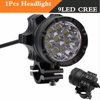 1X 9CREE 7800 LM LED Headlights Motos Bulb Waterproof Fog 90W 6500K Super bright